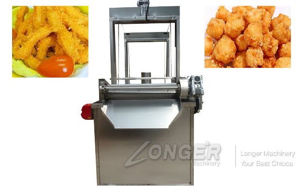 Continuous Chin-Chin Snacks Deep Fryer Machine