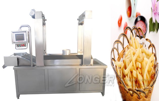 Gas Heating Nuts Frying Machine with Continuous Belt Type