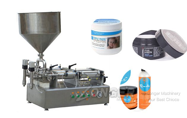 Semiautomatic Stainless Steel Horizontal Paste Filling Machine