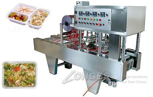 Continuous Tray Filling and Sealing Machine