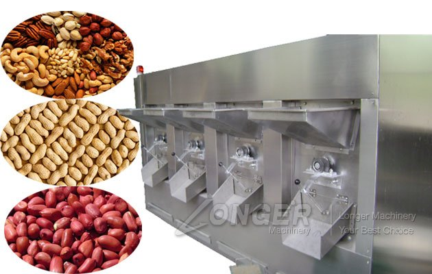Large Capacity Almonds Roaster Machine|Pistachio Roasting Equipment