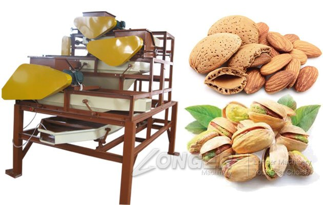 Three-Stage Almond Shelling Machine Price|Almond Cracking Machine Price in India