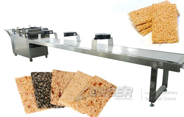 Automatic Stainless Steel Sesame Bar Molding and Cutting Machine
