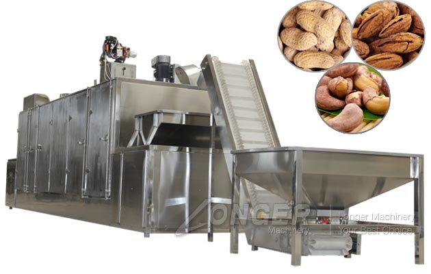 High Quality Continuous Nut Roasting Machine|Cashew