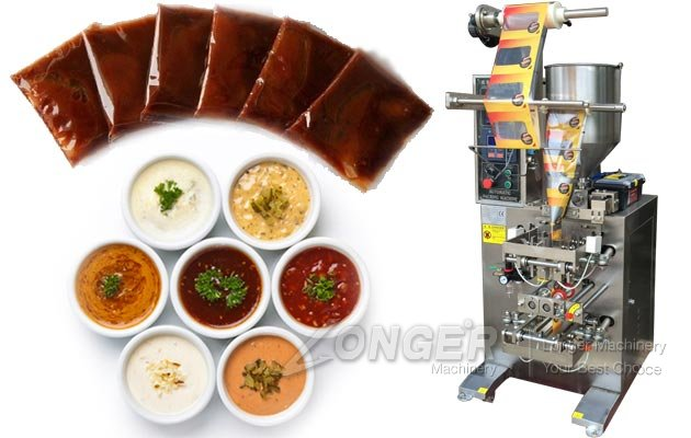 Automatic Condiments Paste Packaging Machine Three Sides