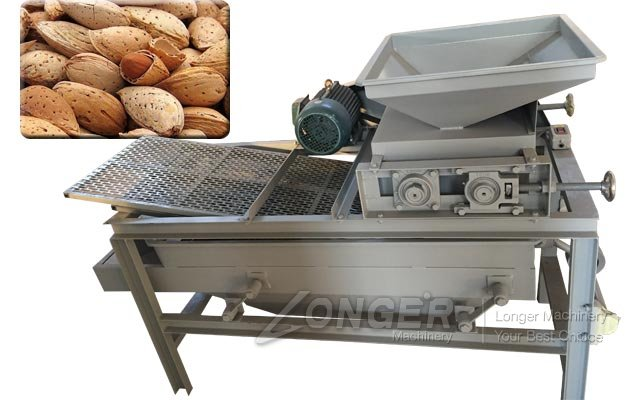 400 kg/h Almond Shell Breaker Deshelling Machine for Sale