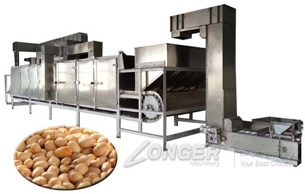 Continuous Electric Soybean Roaster Machine for Sale