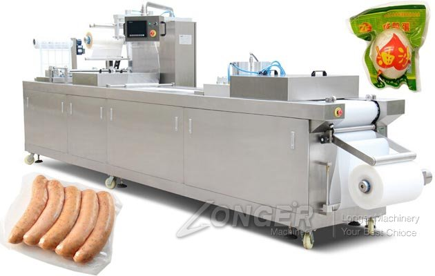 Automatic Vacuum Stretch Film Wrapping Packing Mach