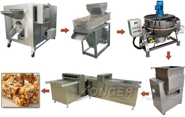 Commercial Peanut Brittle Production Machine Line for Sale