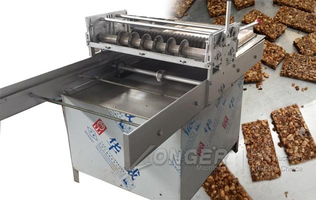 Semi-automatic Peanut Brittle Candy Forming and Cutting Machine