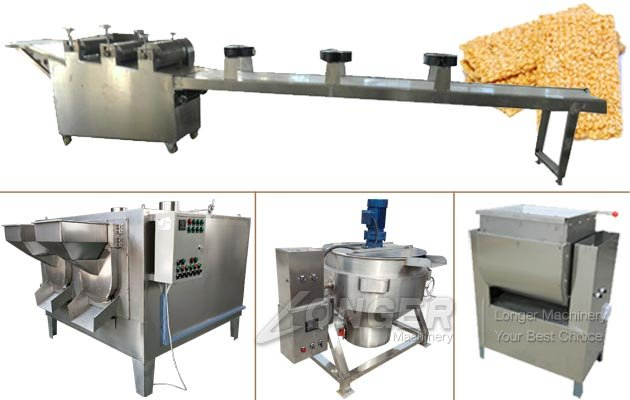 Automatic Sesame Brittle Bar Production Processing