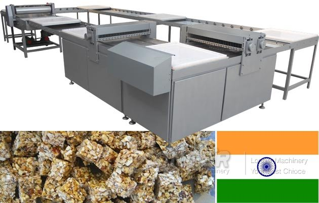 Peanut Chikki Making and Packing Machine Sold to India