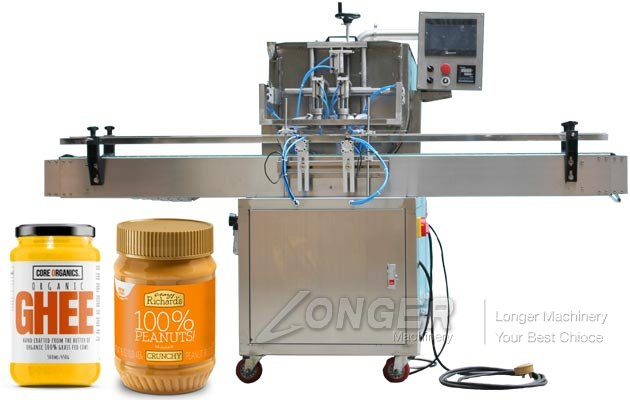 Automatic Peanut Butter and Ghee Jar Filling Machine Manufacturer