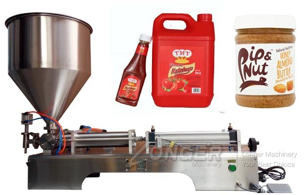 Semi Automatic Pneumatic Liquid Paste Filling Machine Price
