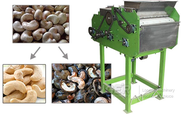 Automatic Cashew Nut Husking and Shell Cutting Machine China