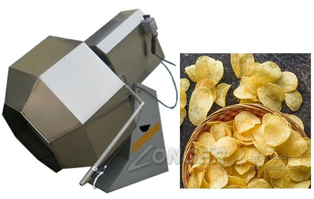 Octagon Potato Chips Flavoring Seasoning Machine in China LGCY800