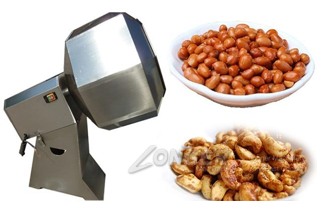 Fried Peanut Cashew Nut Seasoning Flavouring Machine Octagonal Shape