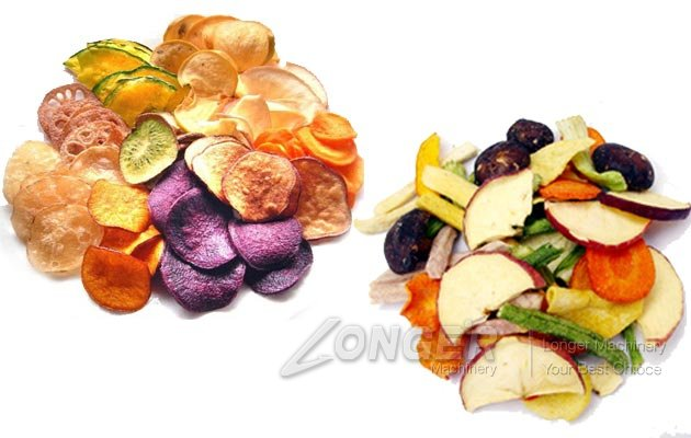 vacuum fried fruit and vegetable chips