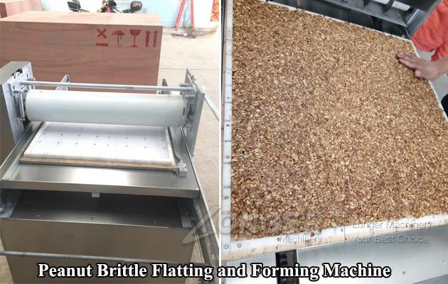 Peanut Brittle Flatting and Forming Machine for Sale
