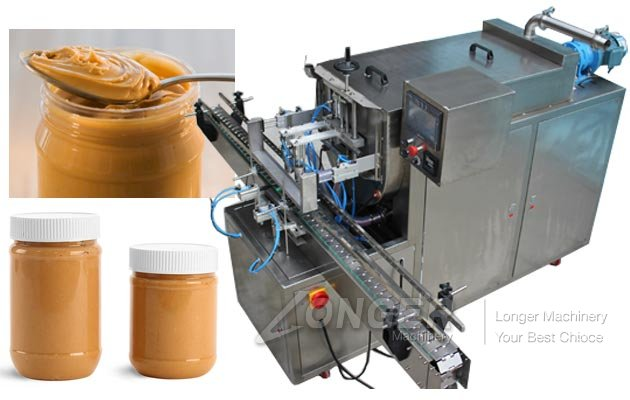 Automatic Peanut Butter Jar Filling Machine
