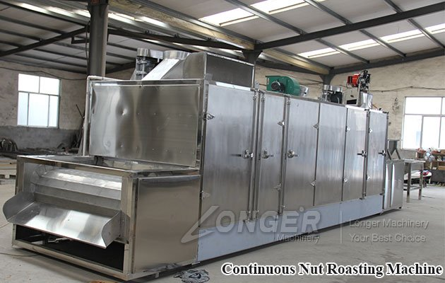 Continuous Nut Roasting Machine for Sale