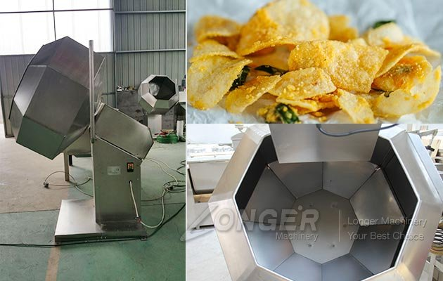 Automatic Potato Chips Flavoring Machine in China